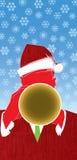 De Trompet van de Jazz van Kerstmis Stock Afbeelding
