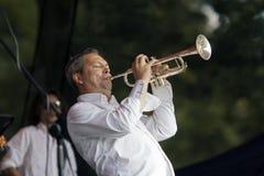 De trompetter van de jazz stock afbeelding