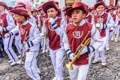 De trompetters van de onafhankelijkheidsdag, Antigua, Guatemala Royalty-vrije Stock Foto's