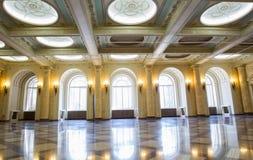 De troonzaal - Nationaal Museum van Kunst, Roemenië stock fotografie