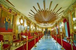 De Troonzaal van Manial-Paleis, Kaïro, Egypte Royalty-vrije Stock Fotografie