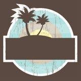 De tropische Banner van het Strand met palm twee Royalty-vrije Stock Foto's