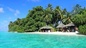 De tropische Eden-van de overzeese palm zonvakantie Royalty-vrije Stock Afbeeldingen