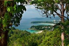 De tropische stranden van het landschap van Thailand royalty-vrije stock fotografie
