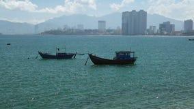 De tropische Vietnamese film van de kustlijn hoge definitie stock video