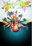 De tropische Vlieger van de Disco van de Gebeurtenis van de Muziek Royalty-vrije Stock Foto