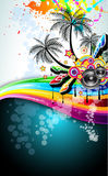 De tropische Vlieger van de Disco van de Gebeurtenis van de Muziek Stock Afbeelding