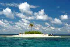 Öde tropisk ö Fotografering för Bildbyråer