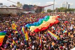 De Trotsparade van Istanboel LGBT Royalty-vrije Stock Foto's