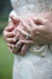 De Trouwringen van de bruid en van de Bruidegom royalty-vrije stock fotografie
