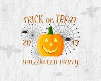 De truc of behandelt banner De gelukkige Affiche van Halloween Royalty-vrije Stock Foto's