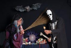 De truc of behandelt, Halloween Stock Foto