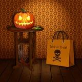 De truc of behandelt - Halloween Royalty-vrije Stock Afbeeldingen