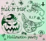 De truc of behandelt - Halloween-partij Stock Afbeelding