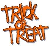 De truc of behandelt Halloween-tekst Royalty-vrije Stock Afbeeldingen