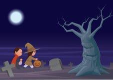 De truc of treaters van Halloween Stock Afbeelding