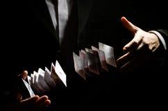 De truc van de spelen-kaart Stock Foto's