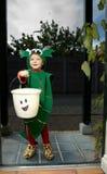 De Truc van Halloween of behandelt Jong geitje Royalty-vrije Stock Afbeelding