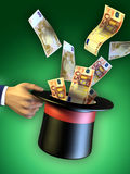 De truc van het geld Stock Afbeeldingen