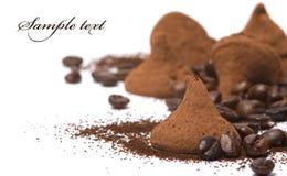 De truffel van de chocolade Stock Foto's