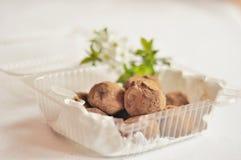 De truffels van de chocolade stock foto's