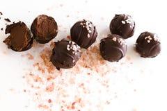 De truffels van de chocolade Stock Afbeeldingen