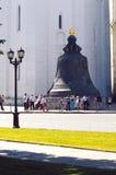 De Tsaarklok 1733-1735 Stichters I van Moskou het Kremlin et M Motorine July Royalty-vrije Stock Foto