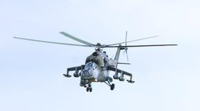 De Tsjechische Achterste Helikopter MI24V van de Legervechter Stock Foto's