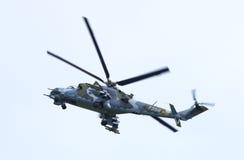 De Tsjechische Achterste Helikopter MI24V van de Legervechter Royalty-vrije Stock Afbeelding