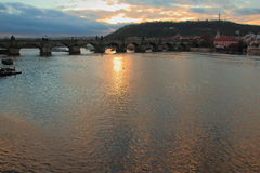 De Tsjechische Republiek van Charles Bridge Praag Stock Fotografie