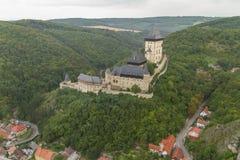 De Tsjechische Republiek van kasteelkarlstejn Bohemen Royalty-vrije Stock Foto's