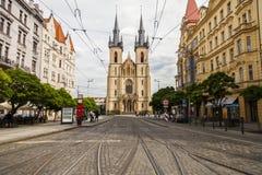De Tsjechische Republiek van Praag - 09 September 2018: Kerk van St Anthony stock foto