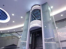 De lift van het glas Stock Fotografie