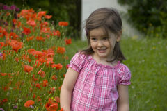 In de tuin royalty-vrije stock foto