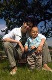 In de tuin Stock Fotografie