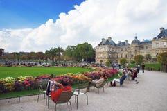 De tuin en het paleis van Luxemburg royalty-vrije stock foto
