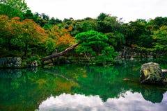 De Tuin in Japanse stijl stock afbeeldingen