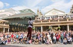De Tuin Londen van Covent van de Entertainer van de straat Stock Foto's