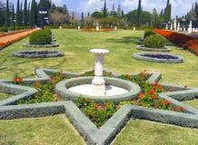 De tuin van Bahai in Israël Stock Foto
