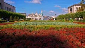 De Tuin van België Brussel van Mont des Arts en de stad in stock foto