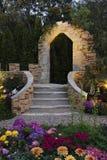De tuin van de binnenplaatsbloem Stock Foto's
