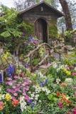 De tuin van de binnenplaatsbloem royalty-vrije stock afbeeldingen