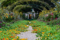 De Tuin van Claude Monet ' - Giverney stock foto's