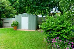 De tuin van de binnenplaats stock fotografie