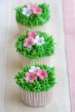 De tuin van de bloem cupcakes Royalty-vrije Stock Fotografie