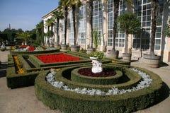 De tuin van de bloem, Kromeriz Stock Foto's