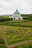 De tuin van de bloem in Kromeriz royalty-vrije stock foto's
