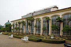 De tuin van de bloem in Kromerizi royalty-vrije stock foto