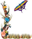 De Tuin van de Bloem van de vlinder Stock Foto