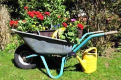 De tuin van de de bloemdoos van de installatie stock afbeeldingen